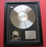 KORN - Take A Look In The Mirror CD / PLATINUM PRESENTATION DISC